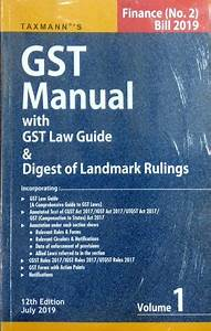 Gst Manual With Gst Law Guide