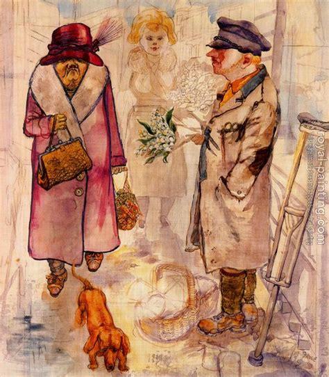 Der Blumenverkaufer by George Grosz | Oil Painting ...