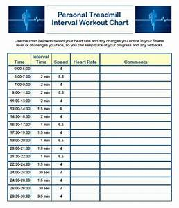 Treadmill Workout Plan With Printable Interval Training Chart