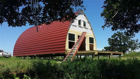 prefabricated arched cabins provide warm home