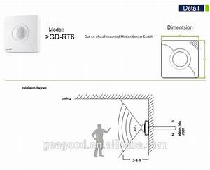 Wall Switch Directly Replace The Wall Switch Motion Sensor Led Light Switch