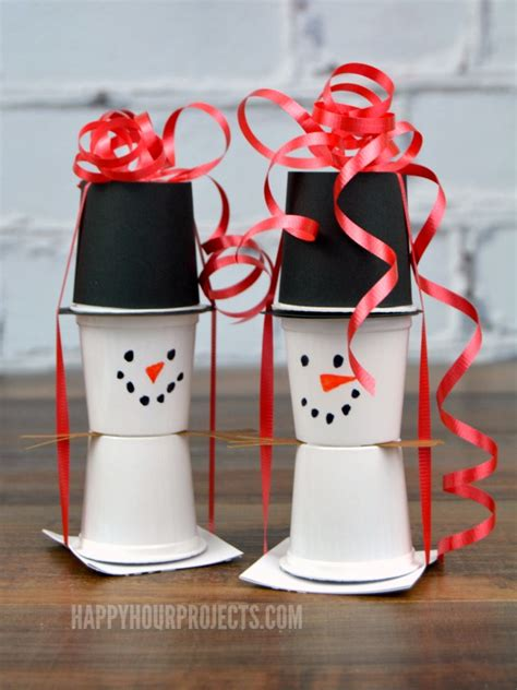 easy christmas food crafts snowman kcup crafts great last minute food