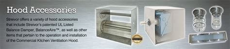 commercial kitchen accessories streivor air systems