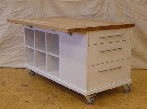 color island kitchen portable storage table white