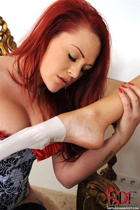 Carol Goldnerova Hot Lesbian Sex With A Busty Redhead 1 Of 1