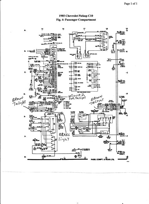 85 Silverado Radio Wiring Diagram by Bonus 85 Chevy C10 Truck Brake Lights My Issue Is My
