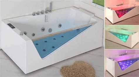 vasca idromassaggio bagno vasca da bagno a parete con cromoterapia e idromassaggio