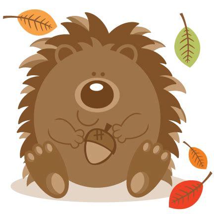Hedgehog Clipart Hedgehog With Acorn Svg Scrapbook Cut File Clipart