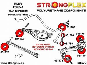 Bmw E46 E36 Rear Suspension Bush Kit 15-24mm Polyurethane Strongflex