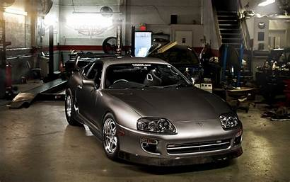Supra Toyota Garage Tuning Grey Wallpapers Gray