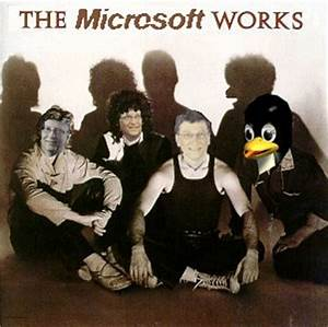 Album Cover Parodies of Queen - The (Microsoft) Works