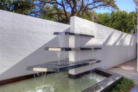modern water features tiered glass