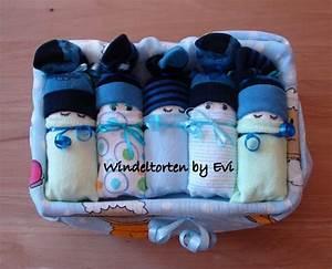 Baby Geschenk Basteln : windelbabys in der box junge baby geschenk geburt taufe windelbabies blau gr n von ~ Frokenaadalensverden.com Haus und Dekorationen