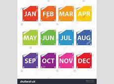 Colorful Month Stickers Stock Photo 154973099 Shutterstock