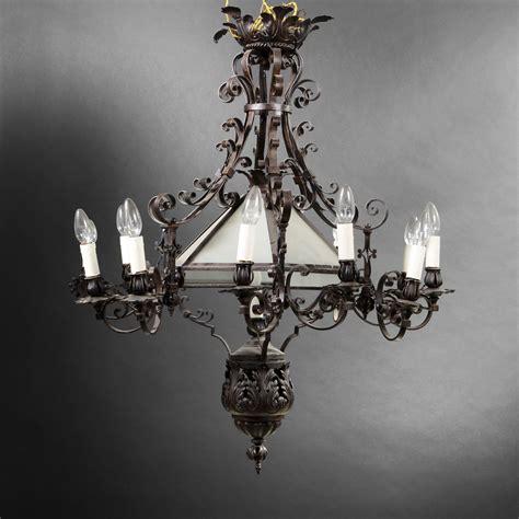 lustre en fer forge lustre en fer forg 233 xixe si 232 cle 2013040040 expertissim