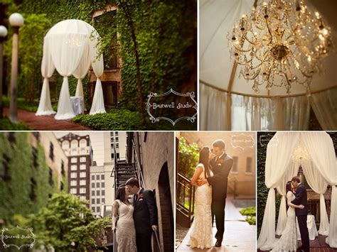 stunning outdoor chicago wedding venue covered in