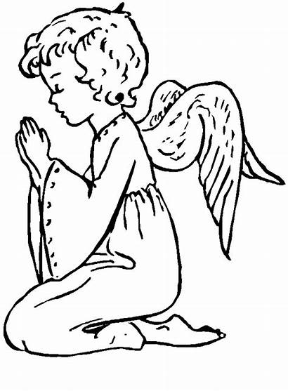 Angel Coloring Pages Printable Children Angels Colour