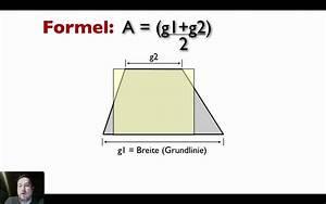 Quadrat Fläche Berechnen : fl che eines trapez berechnen youtube ~ Themetempest.com Abrechnung