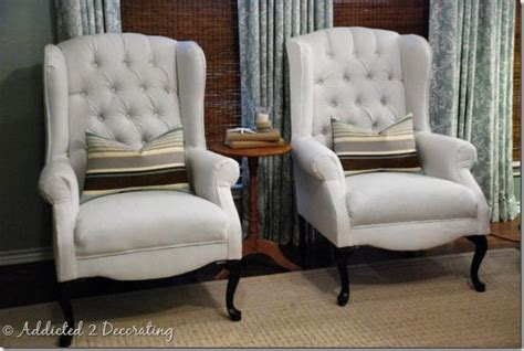 Reupholstered Wingback Chairs