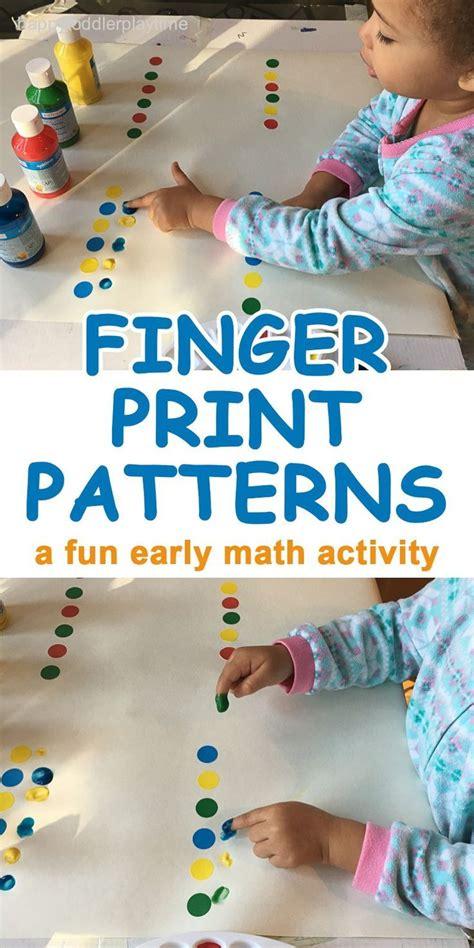 fingerprint patterns preschool activities math