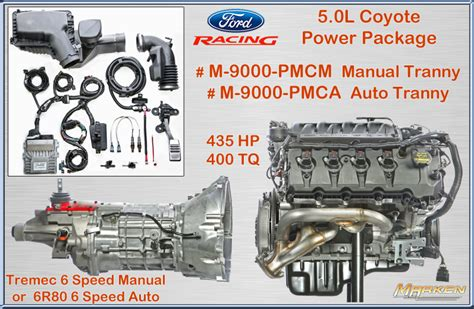 Ford Coyote 50 Engine Diagram by Ford Racing 5 0l Coyote Power Package With Auto Or Manual