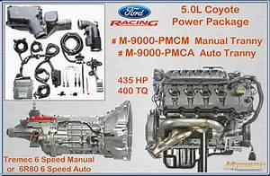 Ford Racing 5 0l Coyote Power Package With Auto Or Manual