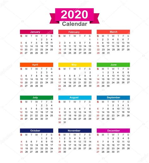 calendario enero calendario del ano aislado en