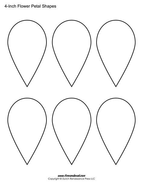 printable flower petal templates  making paper flowers