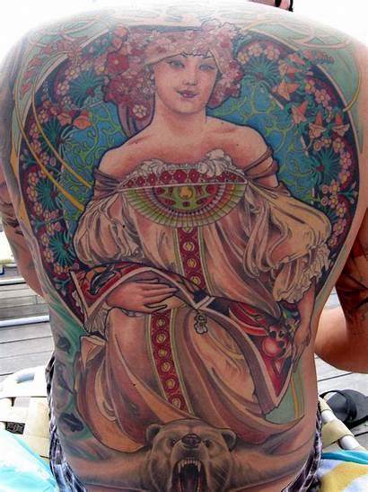 Tattoos Deco Tattoo Intricate Mucha Colors Bright