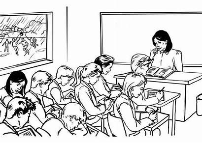 Professore Disegno Colorare Classe Scarica Immagine Grande
