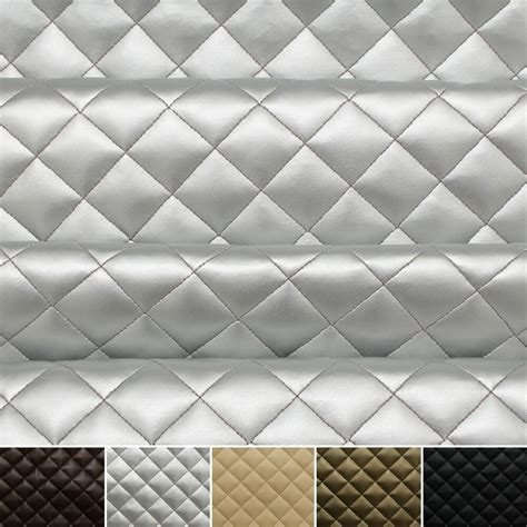 Upholstery Material by Quilted Leather Padded Cushion Faux Leather