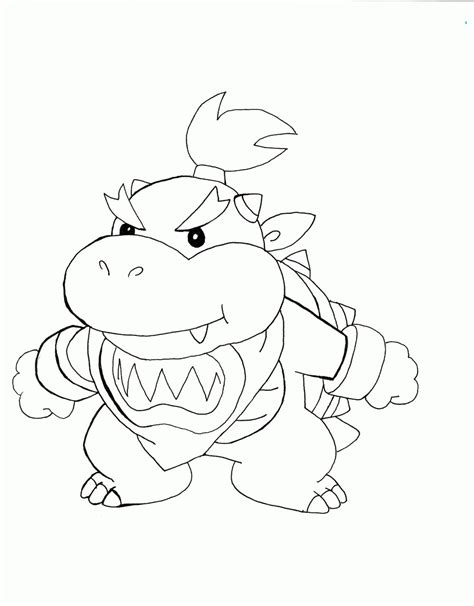 Bowser Jr Kleurplaat by Coloring Page Of Bowser Junior Coloring Home