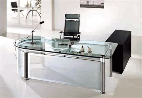 glass top office use glass furniture for a sophisticated look