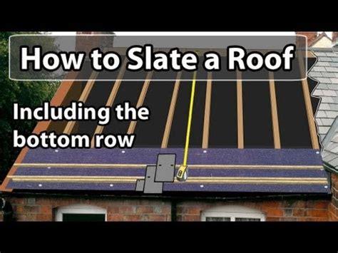 how to slate a roof set out a slate roof bottom row