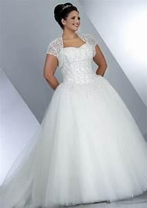 Plus size wedding dresses sleeves pluslookeu collection for Plus wedding dress with sleeves