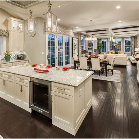 Decorating Ideas For Open Concept Living Room Dining Room And Kitchen by Loving This Open Concept By Tollbrothers Interiors