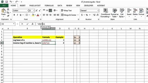 How To Use The Inverse Log Function In Excel  Ms Excel