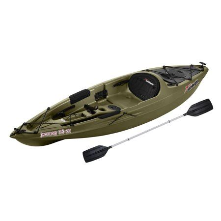 Paddle Boats For Sale At Walmart by Sun Dolphin Journey 10 Ss Sit On Angler Kayak Olive
