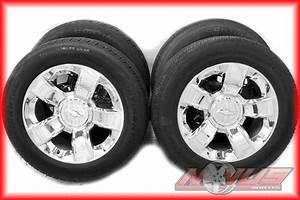 Oem 20 U0026quot  2014 Chevy Silverado Tahoe Ltz Chrome Wheels Tires