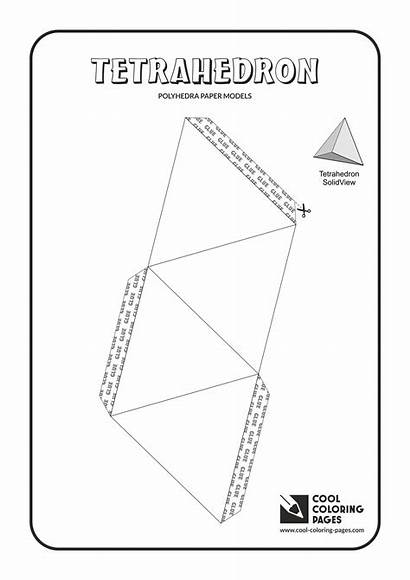 Paper Models Coloring Pages Tetrahedron Cool Solids