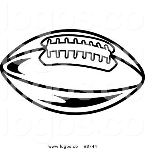 american football vector black and white royalty free clip vector logo of a black and white