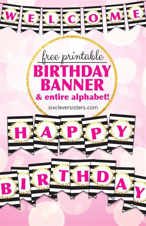 printable happy birthday banner  alphabet happy