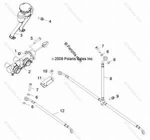 Polaris Side By Side 2010 Oem Parts Diagram For Brakes  Master Cylinder  U0026 Brake Lines