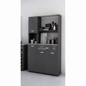 Buffet De Cuisine Gris : buffet 4 puertas 1 cajon acabado gris grafito ~ Mglfilm.com Idées de Décoration