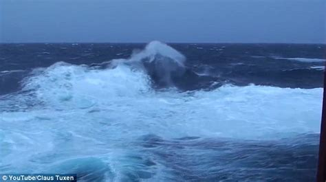 Hurricane Deck Boat On Choppy Water by The Inside Of A Cargo Ship Twist And Contort As It
