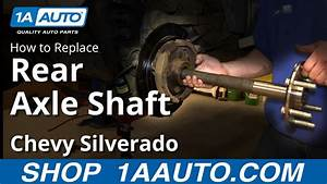 How To Install Replace Rear Axle 2000