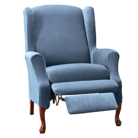 recliner chair slipcovers sure fit stretch pique wing recliner slipcover from