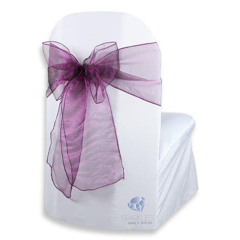 100 pcs organza chair cover bow sash 108 quot x8 quot plum purple