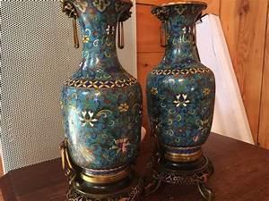 Vase Bleu Canard : vases en bronze cloisonn les anciens vases musrad vase bronze et vitreous enamel ~ Melissatoandfro.com Idées de Décoration