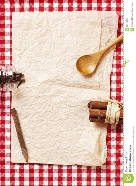 blank recipe card stock images image